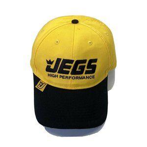 Jegs High Performance Yellow Black Baseball Cap